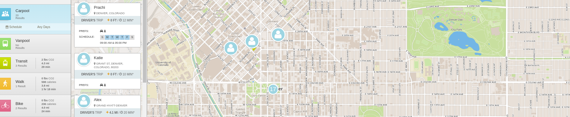 RideAmigos Commuter & Transportation Demand Management Platform