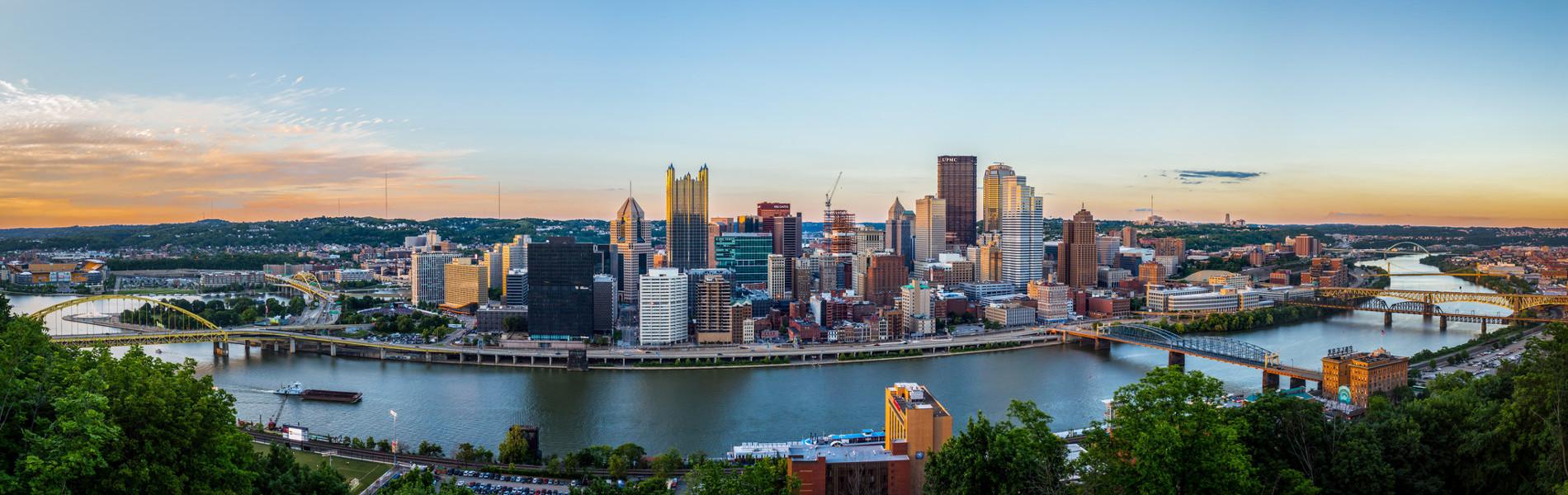 Transforming Urban Transportation - Pittsburgh Skyline