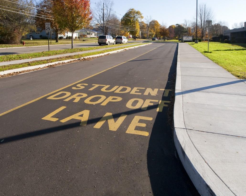 Schoolpool drop off lane