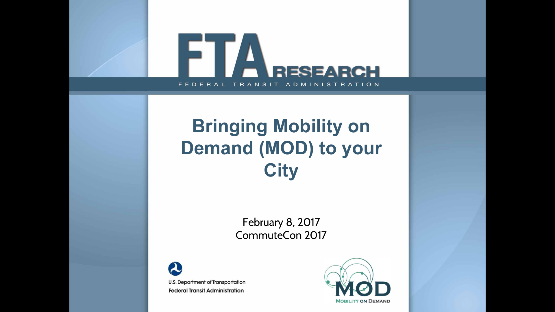 Bringing Mobility on Demand to your City | CommuteCon 2017