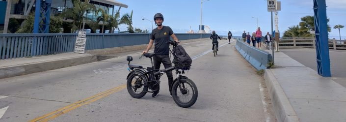 RideAmigos Founder Jeff Chernick E-bike