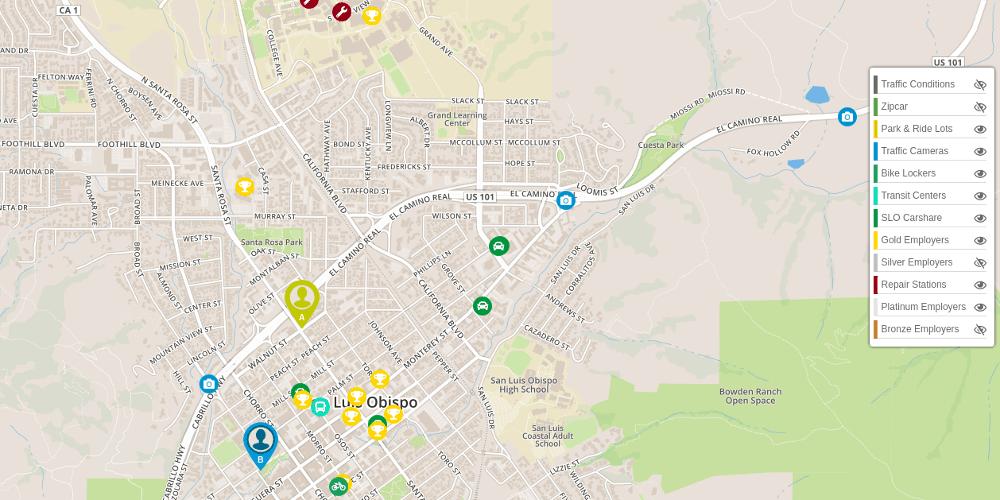 Subway Map Planner.Multimodal Commuter Trip Planner Rideamigos Commuter Platform